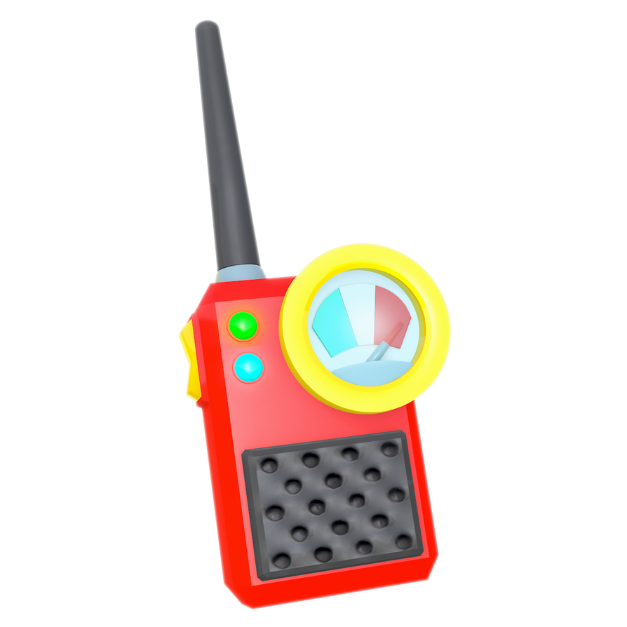 Team Chaotix's Walkie Talky, Render By Nibroc-Rock On