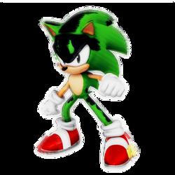 Glitch Sonic? Render by Nibroc-Rock
