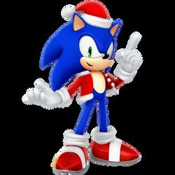 Sonic Santa Christmas 2017 Render by Nibroc-Rock