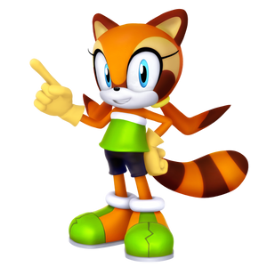 Marine the Raccoon 2018 render
