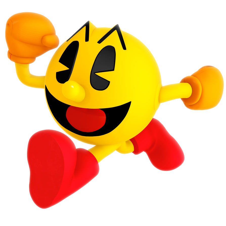 It is a photo of Juicy Pac Man Render