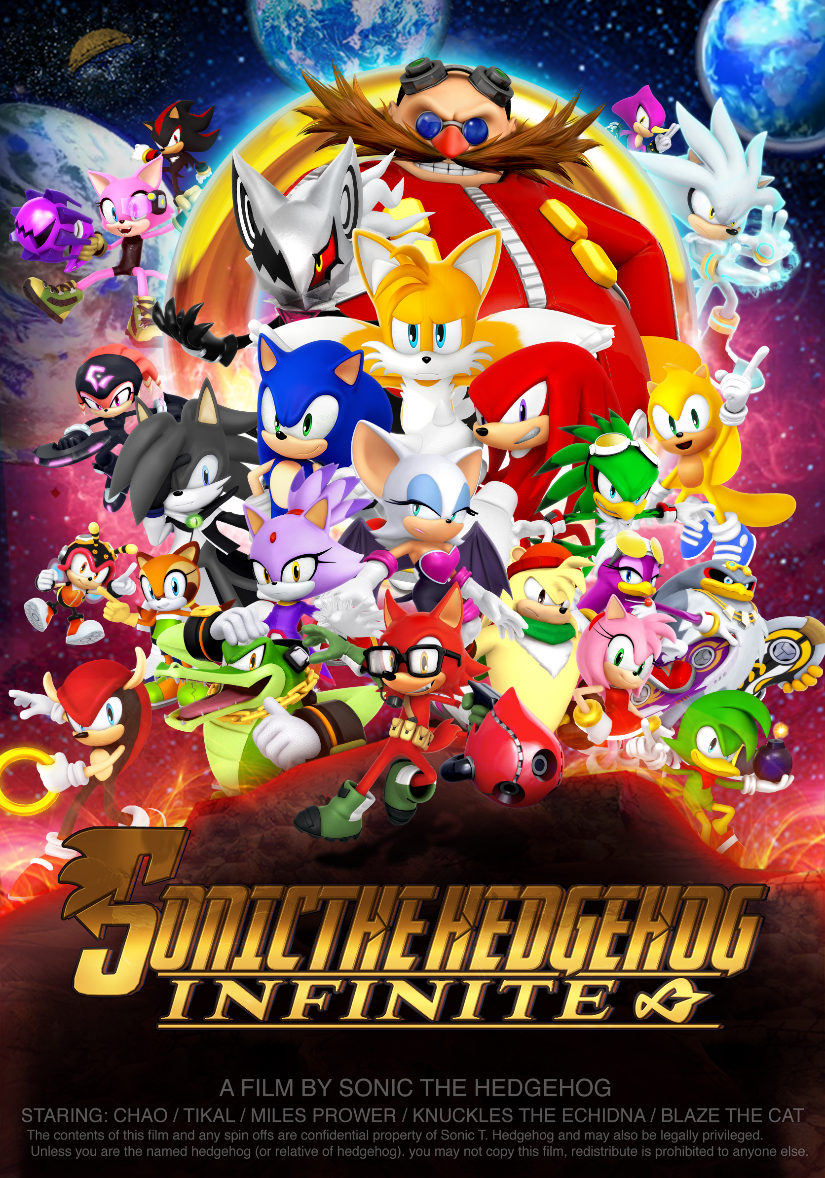 Infinity War Poster Sonic Version By Nibroc Rock On Deviantart
