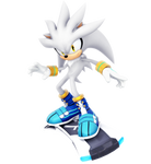 Silver The Hedgehog: Riders Outfit Render
