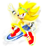 Super Sonic: Riders Outfit render