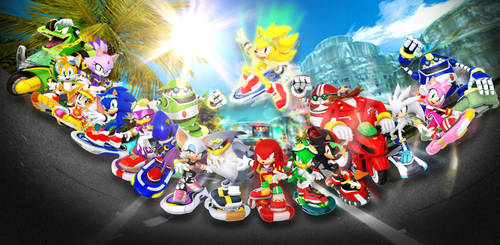 Sonic Riders Group Photo