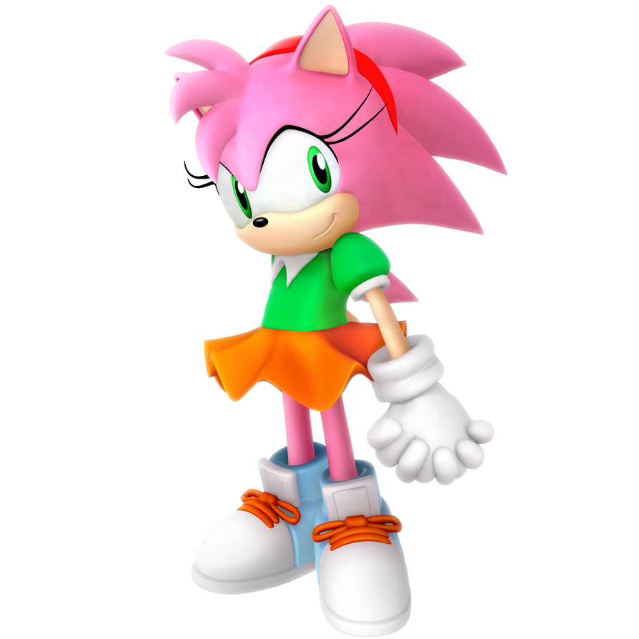 Amy Rose Classic Outfit Render By Nibroc-Rock On DeviantArt
