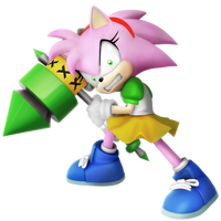 Rosy the Rascal (Anti-Amy Render) 6/6 by Nibroc-Rock