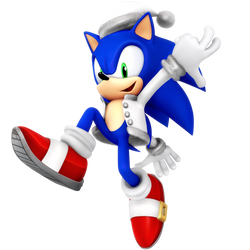Christmas Sonic 2018 Render by Nibroc-Rock