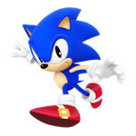 Classic Sonic Dimensional Render