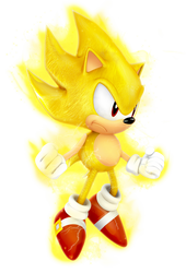 Classic Super Sonic Dimensional Render by Nibroc-Rock