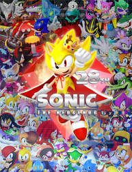 Sonic 28th Birthday Poster by Nibroc-Rock