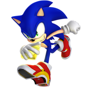 Sonic with them Soap Shoes.