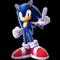 Brawl Style Sonic Render