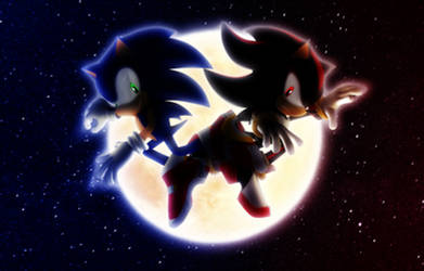 Sonic and Shadow Moon Cross Wallpaper
