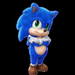 Baby Sonic Render