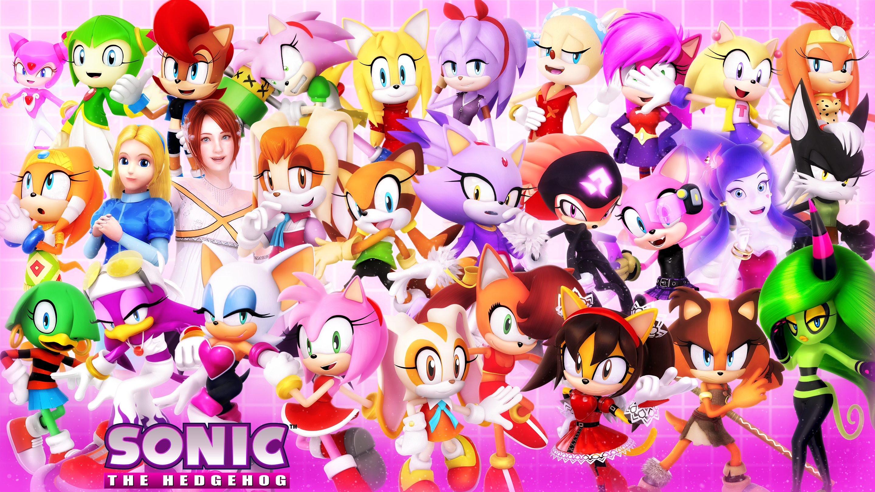 Female Cast Of Sonic 2020 Textless By Nibroc Rock On Deviantart