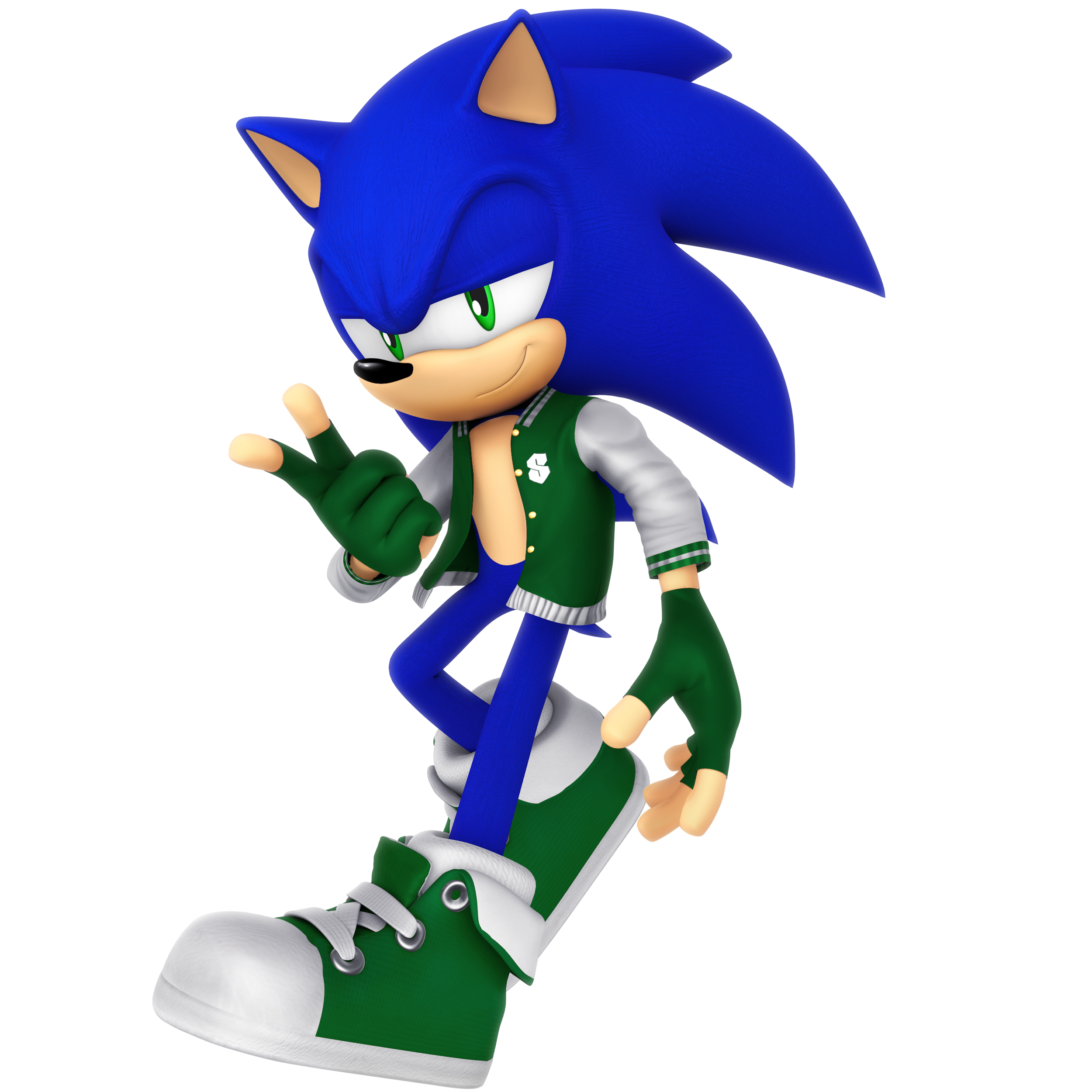 Sonic Letterman Jacket Outfit Render By Nibroc Rock On Deviantart