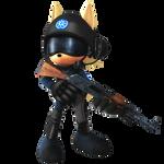 G.U.N. Soldier Sonic's World Species Sized