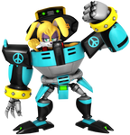 Buns Rabbot and The Omega Care Unit Render