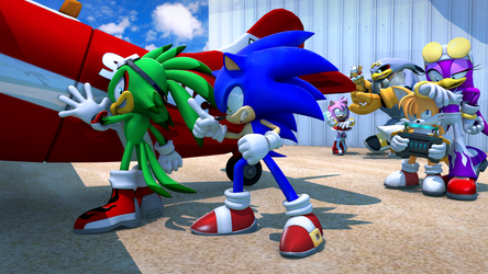 Sonic and Babylons team up sorta