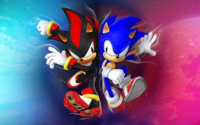 Sonic and Shadow Clash Wallpaper version