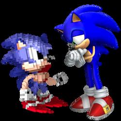 Sonic Meets Pixel Sonic