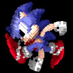 Pixel Sonic Adventure Pose