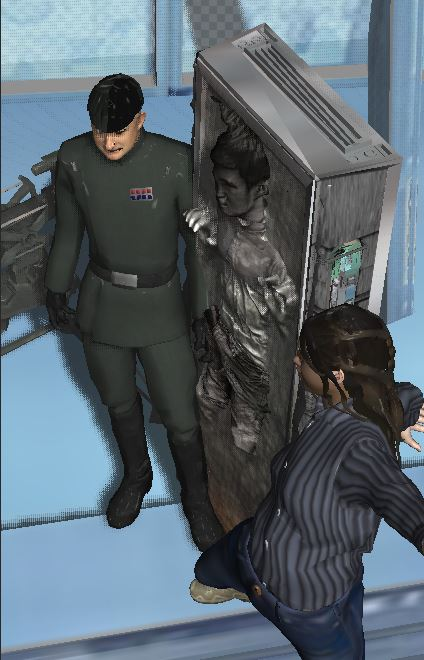 jean solo in carbonite by willartmaster