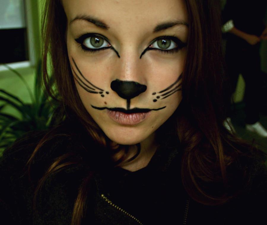 Cat makeup by olainturrupted on DeviantArt