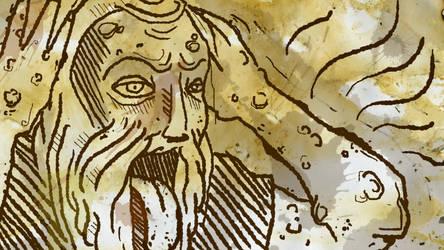 Medieval print - Disease