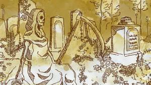 Medieval print - Death