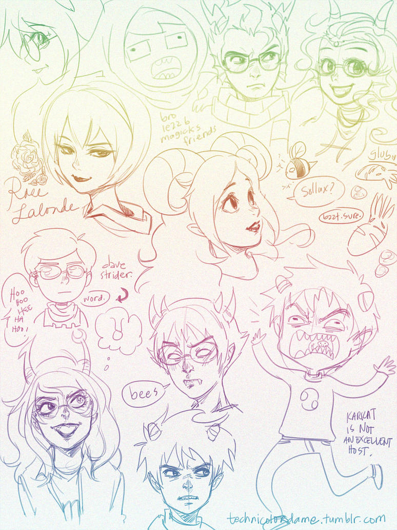 Homestuck- Doodlemania part1 by mingming07