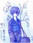 NGE- Rei Ayanami in Kimono