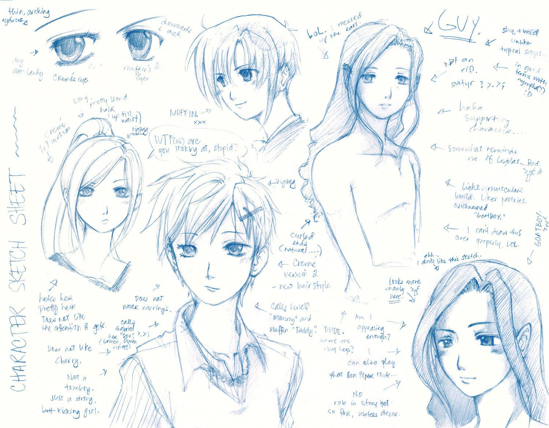 Original- Character Sketch 1 by mingming07 on DeviantArt