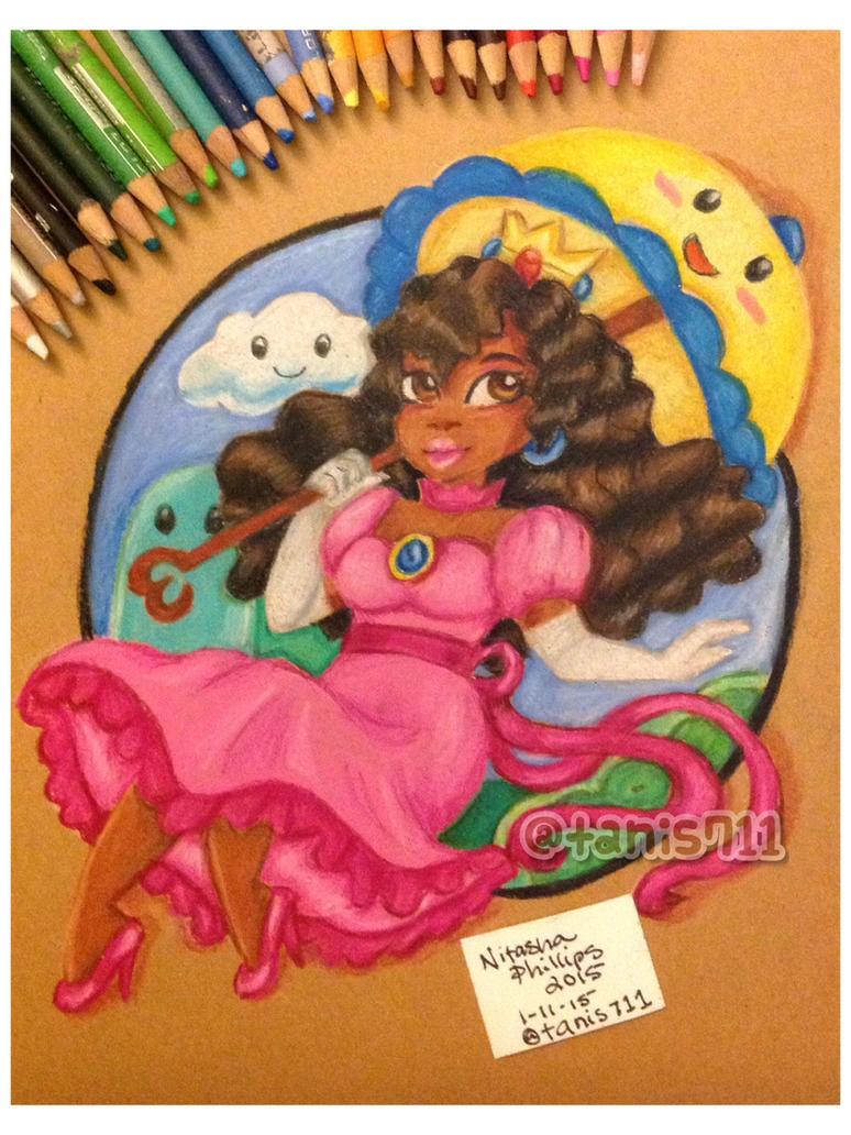 Natural hair Princess Peach by Tanis711