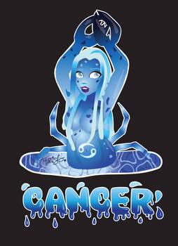Zodiac Cancer _Ice Crab T-Shirt Design