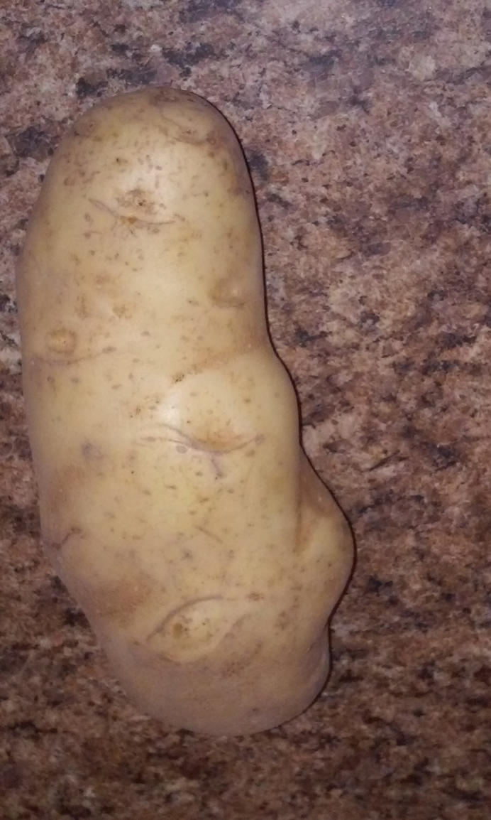Potatoe with a face... by Firecandykitty