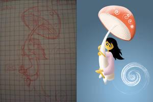Flying Mushroom by dani9del9