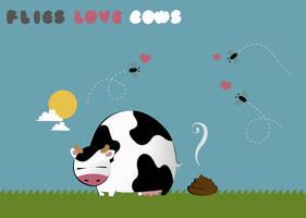 Flies love cows by dani9del9