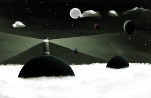 Clouds beacon by dani9del9