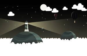 Clouds beacon vectorial by dani9del9