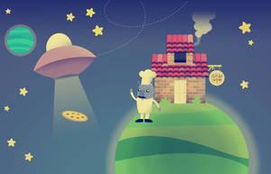 Space pizza by dani9del9