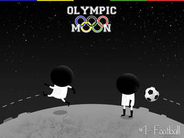 Olympic Moon #1 - Football by dani9del9