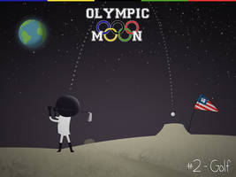 Olympic Moon #2 - Golf by dani9del9