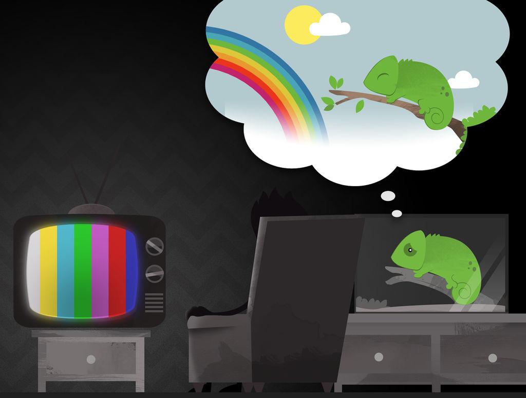 Sad Chameleon by dani9del9
