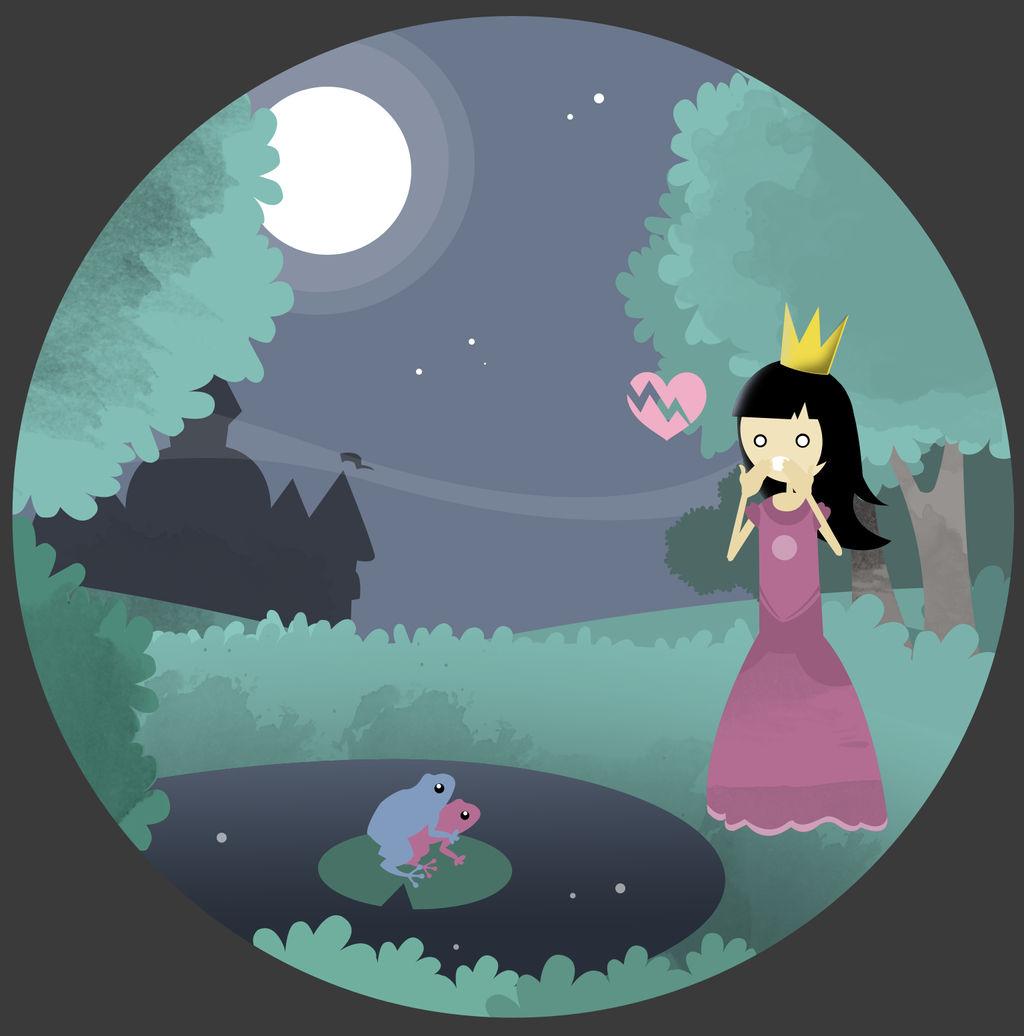 Princess + frog by dani9del9