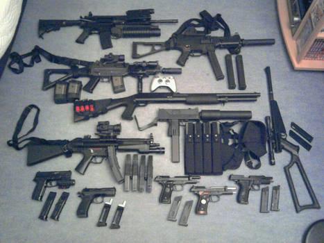 My Replic Airsoft Gun Equipment Layout