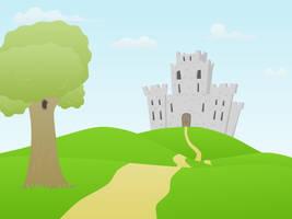 Cartoon Castle scene by rasulh
