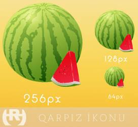 Qarpiz ikonu - Watermelon icon