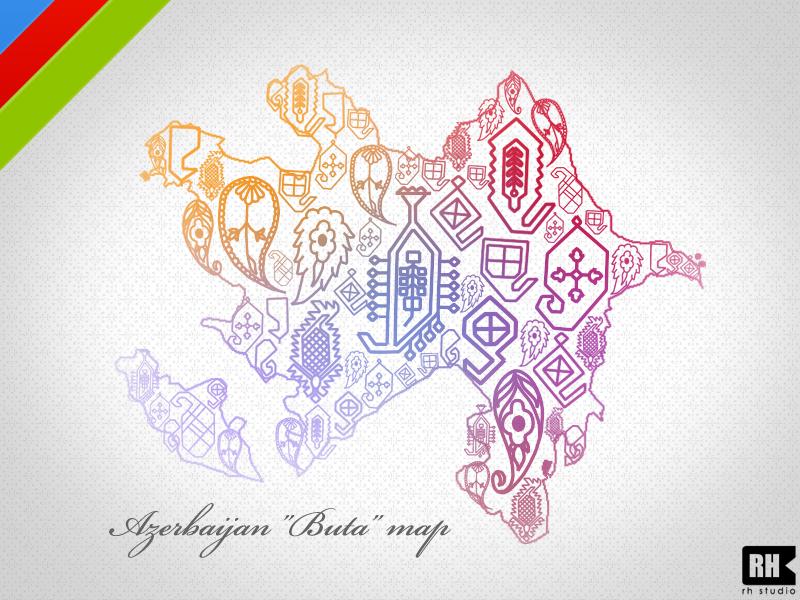 Azerbaijan 'Buta' map by rasulh